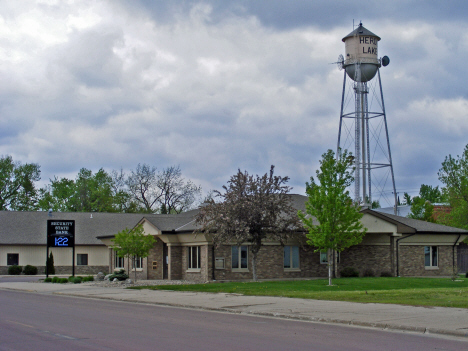 Security State Bank and Water Tower, Heron Lake Minnesota, 2014