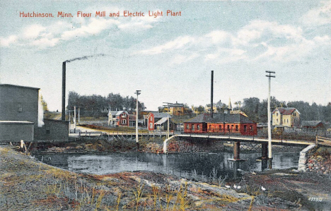 Flour Mill and Electric Light Plant, Hutchinson Minnesota, 1908