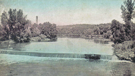 Mill Dam looking north, Jackson Minnesota, 1912