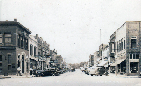 Main Street South, Jackson Minnesota, 1942