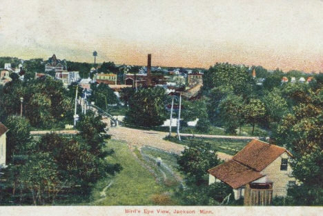 Birds eye view, Jackson Minnesota, 1907