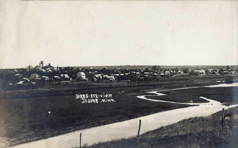 Birds eye view, Jasper Minnesota, 1908
