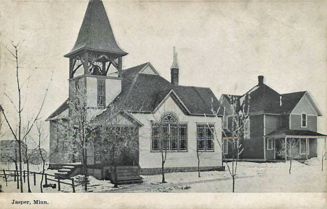 Unknown buildings, Jasper Minnesota, 1908