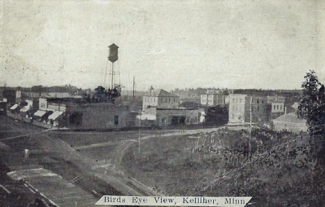 Birds eye view, Kelliher Minnesota, 1910's