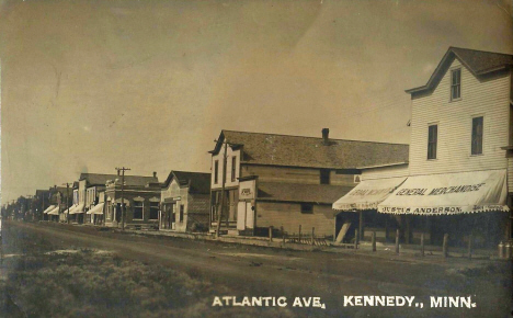 Atlantic Avenue, Kennedy Minnesota, 1910