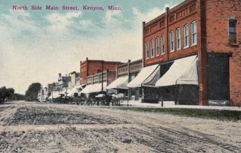 North side Main Street, Kenyon Minnesota, 1912