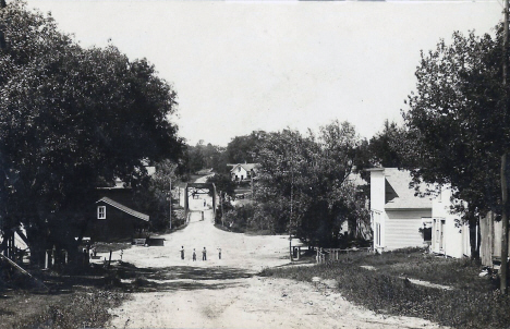 Street scene, Kingston Minnesota, 1910's