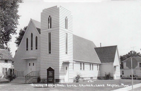 Trinity Evangelical Lutheran Church, Lake Crystal Minnesota, 1950's