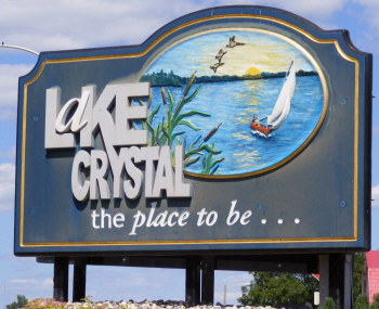 Lake Crystal sign