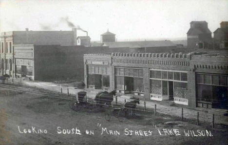 Looking south on Main Street, Lake Wilson Minnesota, around 1910