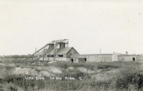 Lime Kiln, Le Roy Minnesota, 1917