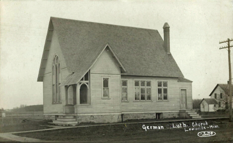 German Lutheran Church, Lewisville Minnesota, 1910's