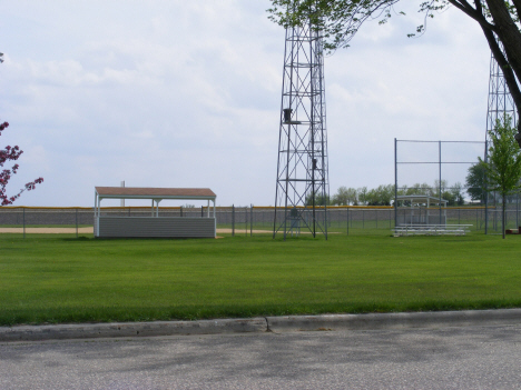 Baseball diamond, Lismore Minnesota, 2014
