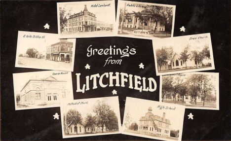 Multiple scenes, Litchfield Minnesota, 1908