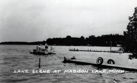 Lake scene, Madison Lake Minnesota, 1950's