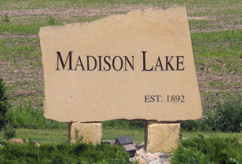 City limit sign, Madison Lake Minnesota