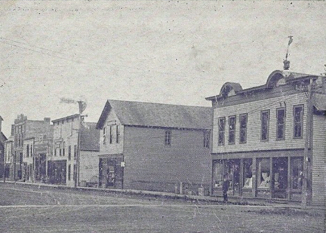 South side of Main Street looking east, Mapleton Minnesota, 1908