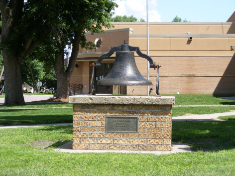 Bell from old school, Mapleton Minnesota, 2014