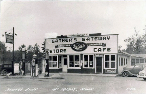 Sather's Store, McGregor Minnesota, 1930's