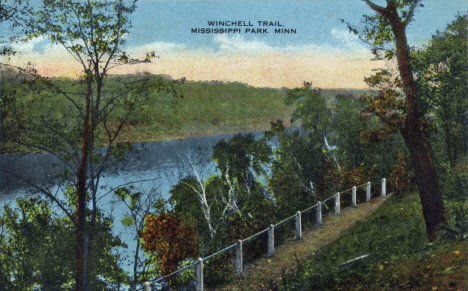 Winchell Trail on the Mississippi River, Minneapolis Minnesota, 1918