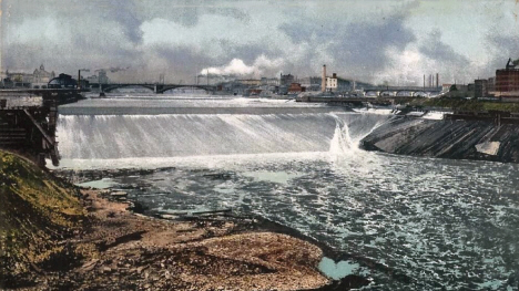 St. Anthony Falls, Minneapolis Minnesota, 1908