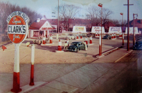 Clark's Gas, 1851 Central Avenue NE, Minneapolis, MN, 1951