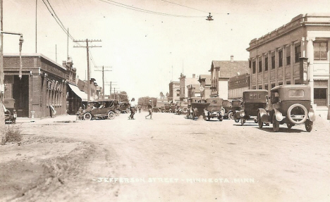 Jefferson Street, Minneota Minnesota, 1920's