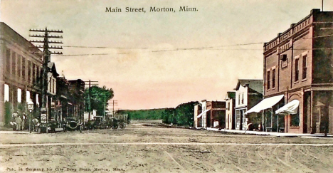 Main Street, Morton Minnesota, 1910's