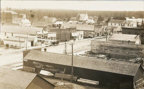 Birds eye view, Motley Minnesota, 1910