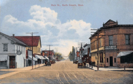 Main Street, North Branch Minnesota, 1910's