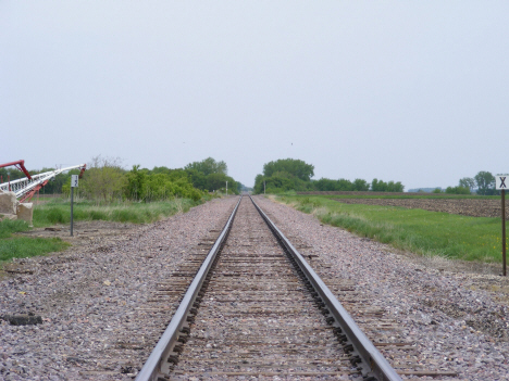 Railroad tracks, Odin Minnesota, 2014