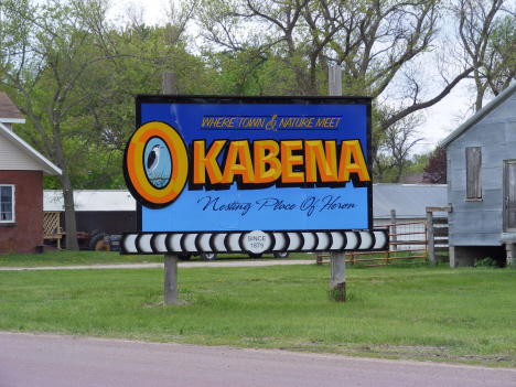 Sign, Okabena Minnesota, 2014