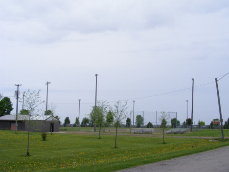 Park and baseball field, Ormsby Minnesota, 2014