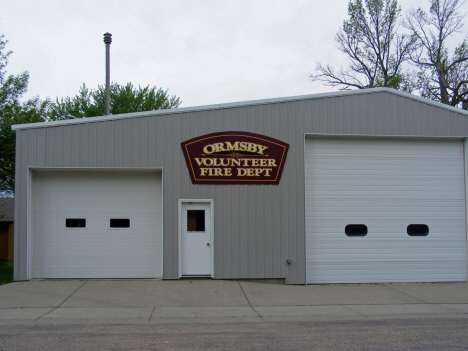 Ormsby Volunteer Fire Department, Ormsby Minnesota, 2014