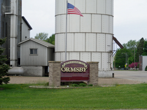 Welcome sign, Ormsby Minnesota, 2014