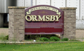 Ormsby Minnesota Welcome Sign
