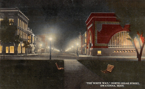 The White Way, Owatonna Minnesota, 1914