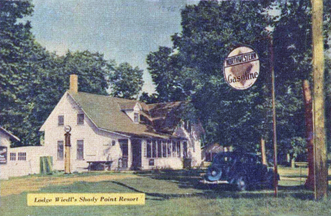Lodge, Wiedl's Shady Point Resort, Park Rapds Minnesota, 1930's
