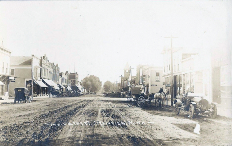 Main Street, Plainview Minnesota, 1910's