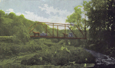 Bridge over Whitewater River, Plainview Minnesota, 1911