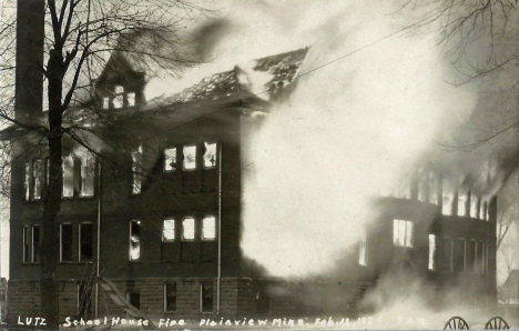 Plainview High School Fire, Plainview Minnesota, 1924