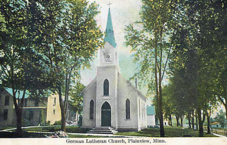 German Lutheran Church, Plainview Minnesota, 1910