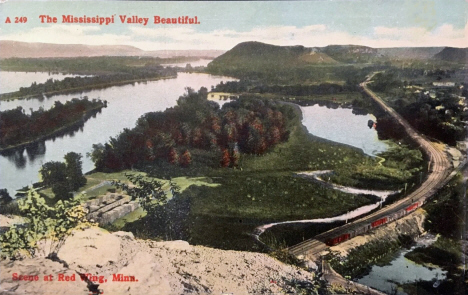 View from the Bluff, Red Wing Minnesota, 1911