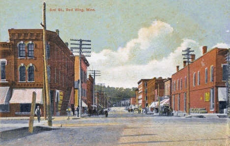 3rd Street, Red Wing Minnesota, 1910's