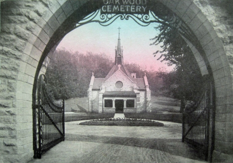 Memorial Chapel and Arch, Oakwood Cemetary, Red Wing Minnesota, 1913