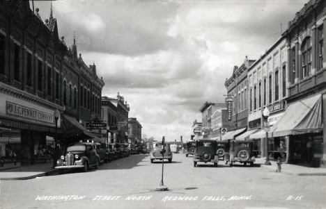 Washington Street North, Redwood Falls Minnesota, 1940's