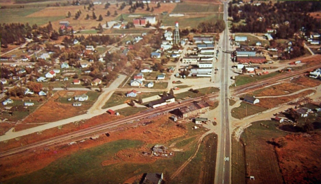 Aerial view of Remer Minnesota, 1964