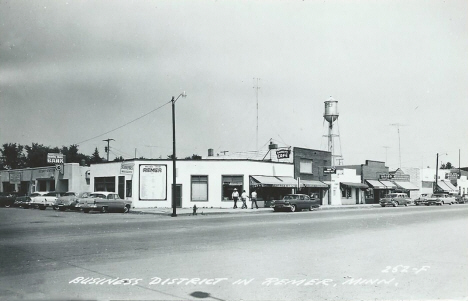 Business District, Remer Minnesota, late 1950's