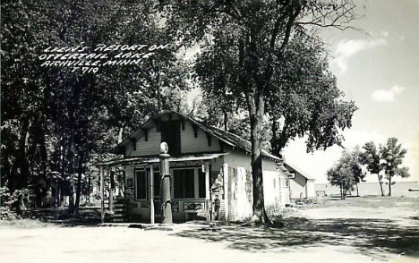 lien's Resort on Ottertail Lake, Richville Minnesota, 1940's