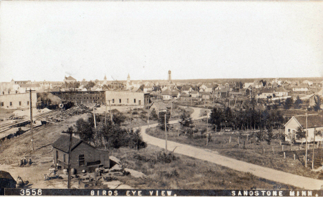 Birds eye view, Sandstone Minnesota, 1909